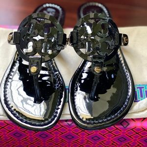 Tory Burch Miller Sandals Patent Leather